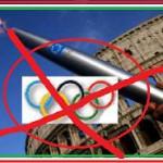 © Marco Merlini / Lapresse 28-06-2004 Roma Sport La torcia olimpica di Atene 2004 per le strade di Roma Nella foto la torcia olimpica con sullo sfondo il colosseo